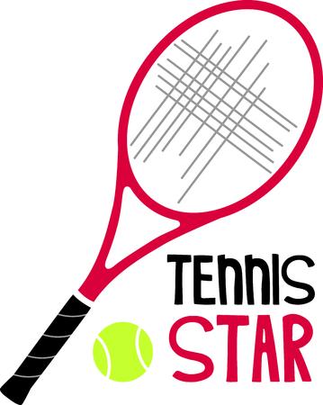 테니스 게임을 좋아하는 특별한 테니스 선수를 생각 나게하십시오. 테니스를 함께하는 것을 좋아하는 커플에게 딱! 스톡 콘텐츠 - 43868236
