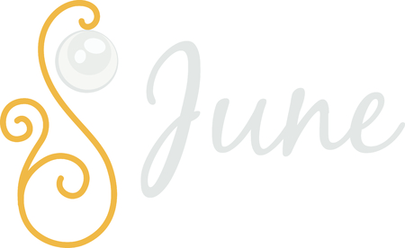 birthstone: Celebrate your June birthday with your birthstone, the pearl.