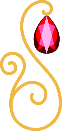 ruby: Celebrate your July birthday with your birthstone, the ruby. Illustration