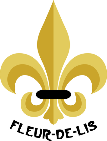 embellishment: This elegant fleur de lis is a beautiful embellishment for your home decor projects.  It is absolutely lovely stitched on curtain sashes!