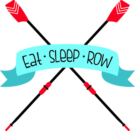 embellish: Embellish your favorite rowing teams shirts with this classy banner over crossed oars.