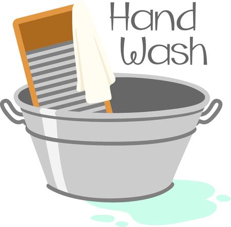 Metal wasserette wastafel en hand wasbord. Huishoudelijke taken te ontwerpen voor uw huis decoreren.