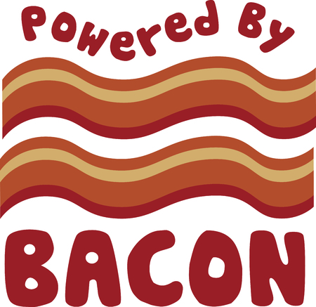 bacon: Everything is better with bacon!  That includes your kitchen related embroidery projects.