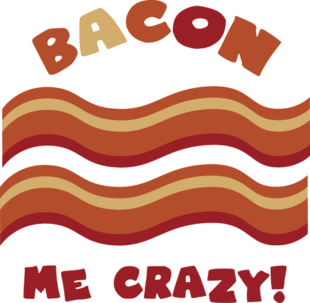 entrees: Everything is better with bacon!  That includes your kitchen related embroidery projects.