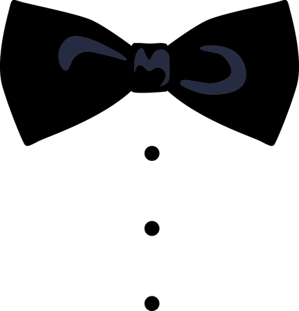 This black bowtie design will be perfect for your special occasion. Illustration