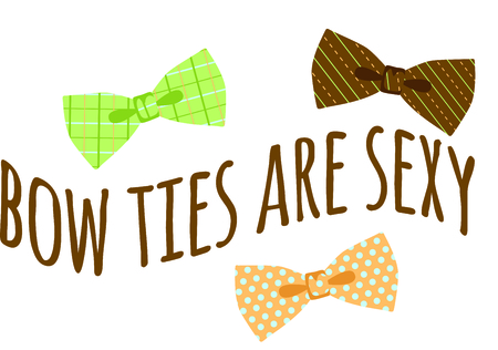 This bowtie design will be perfect for your fun character project. Иллюстрация