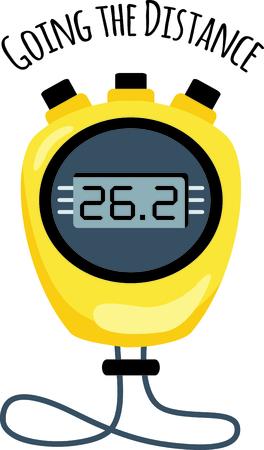 Yellow stop watch set to zero..