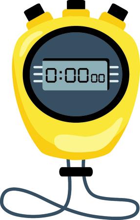 cronógrafo: cronómetro amarilla fija en cero ..