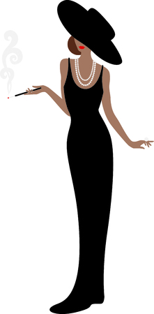 foxy: This smoking lady will be a great part of your project.