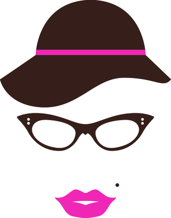 perfect face: This ladys face design will be perfect for your classy project. Illustration