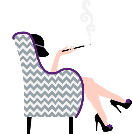 This smoking lady will be a great part of your project.