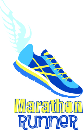 Winged track shoes for the running enthusiast.