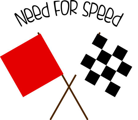 formula 1: Red and checkered racing flags.