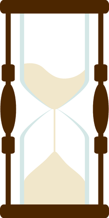 hour glass: Sand filled hour glass running out of time.