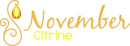 birthstone: Celebrate your November birthday with your birthstone, the citrine.