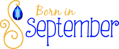 birthstone: Celebrate your September birthday with your birthstone, the sapphire.
