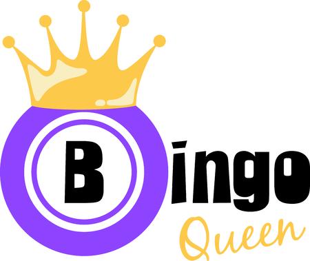 Speel bingo met dit gekroonde chipontwerp.