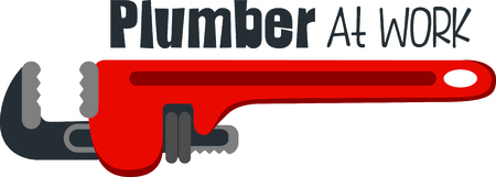 Red pipe wrench for the plumber or handyman.