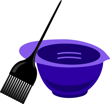 most talent: The color bowl and brush are one of the most frequently used tools of the salon.  This is a perfect design for the colorist jacket to display your unique and special talent.