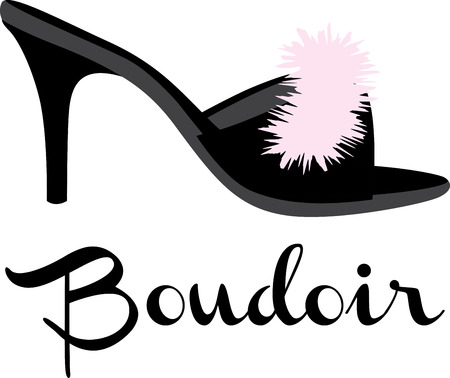 boudoir: Show off your love for shoes with s pretty bedroom slipper.