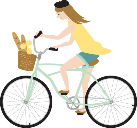 two wheeler: Cyclists will like to go shopping in Paris with this girl.