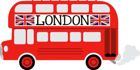 bus anglais: Un bus anglais fera un grand projet pour un voyageur. Illustration
