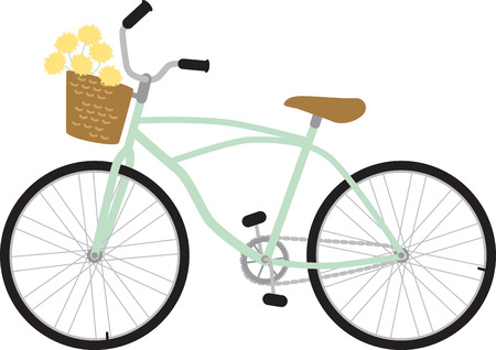 wheeler: Cyclists will love a bike with lovely flowers.