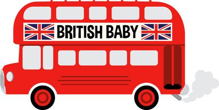 英語のバスは旅行者のための大きなプロジェクトを行います。