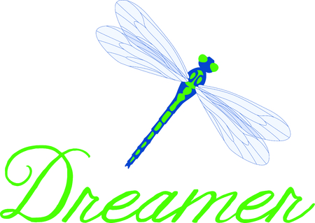 dreamer: Use this image of a garden dragonfly in your next spring design.
