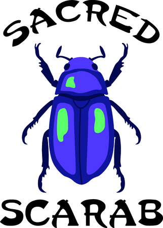 coleoptera: Use this image of a garden beetle in your next spring design. Illustration