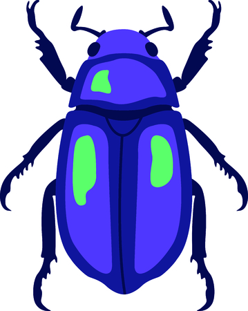 Use this image of a garden beetle in your next spring design. Illustration