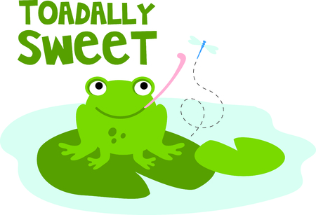 lily pad: Use this image of a garden frog in your next design. Illustration