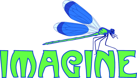 humourous: Use this image of a garden dragonfly in your next design.