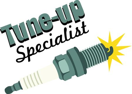 hobbyist: Spark plug for mechanics and auto repair hobbyist.