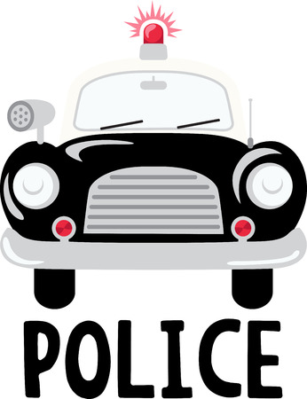 Policemen will like this old fashioned patrol car.