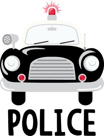 patrol car: Policemen will like this old fashioned patrol car.