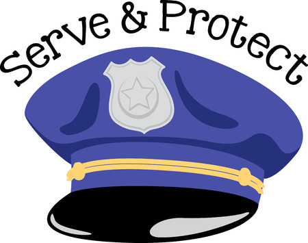 police equipment: Policemen will like this great hat on a shirt.