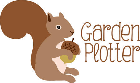 marmot: Use this image of a garden squirrel in your next spring design. Illustration