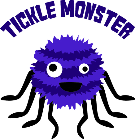 mythological character: Use this image of a tickle monster in your next spring design.