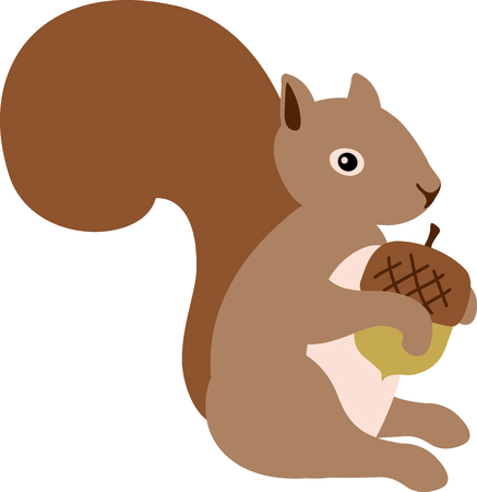 woodchuck: Use this image of a garden squirrel in your next spring design. Illustration