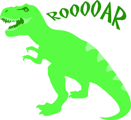 Use this image of a dinosaur in your child's design.