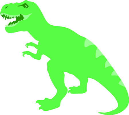 Use this image of a dinosaur in your childs design. Illustration