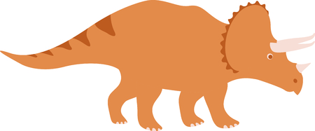 triceratops: Use this image of a dinosaur in your childs design. Illustration