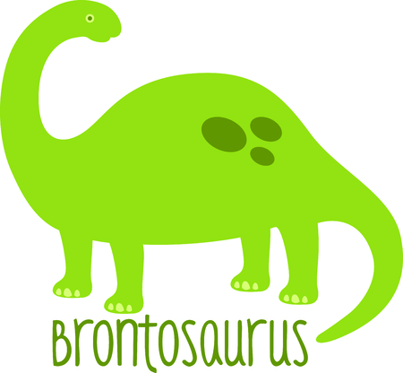 Use this image of a dinosaur in your childs design. Иллюстрация