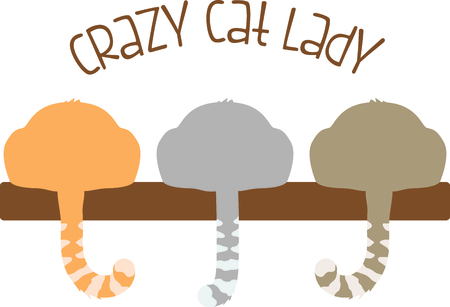 critter: Use this image of a cats tail in your next spring design. Illustration
