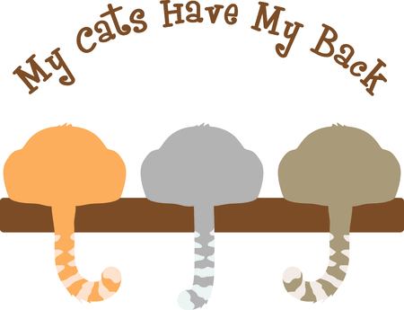 puss: Use this image of a cats tail in your next spring design. Illustration