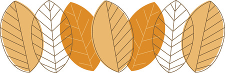 다채로운 잎은 훌륭한 가을 장식을합니다. 일러스트