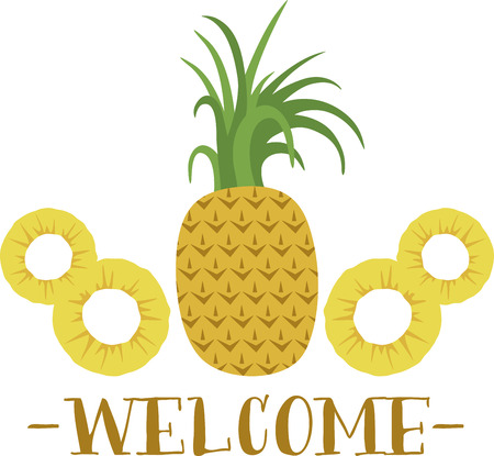 These pineapples are a great symbol for hospitality. Ilustrace