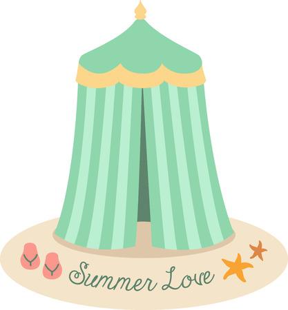 a thong: Accent a summer bag with a cute beach tent.
