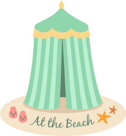 Accent a summer bag with a cute beach tent.